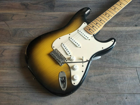 1976 Fernandes Japan Burny Custom FST-70 Stratocaster (Yellowed Sunburst)