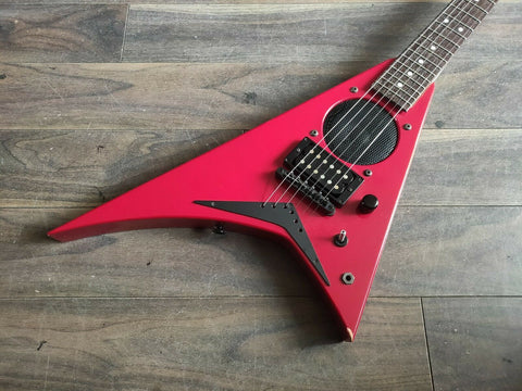 Jackson/Charvel Japan Mini Rhoads Flying V w/Onboard Speaker/Amplifier (Red)