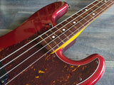 1983 Fender Japan SPB-50 JV Defretted Precision Bass (Candy Apple Red)