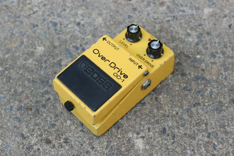 1986 Boss OD-1 Overdrive Vintage Effects Pedal