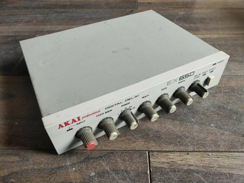 1987 AKAI EX65D Professional Digital Delay Rack Unit