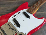 2011 Fender Japan MG69 Mustang (Fiesta Red) MIJ w/Matching Headstock