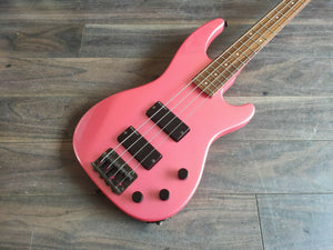1986 Greco Japan JJB-M1 Medium Scale Electric Bass Guitar (Pink)