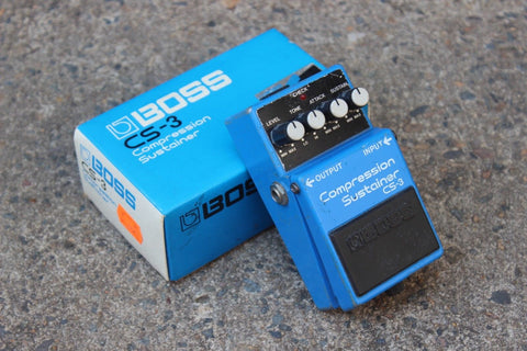 1989 Boss CS-3 Compression Sustainer Black Label Effects Pedal