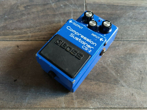 1984 Boss CS-2 Compression Sustainer Compressor MIJ Vintage Effects Pedal