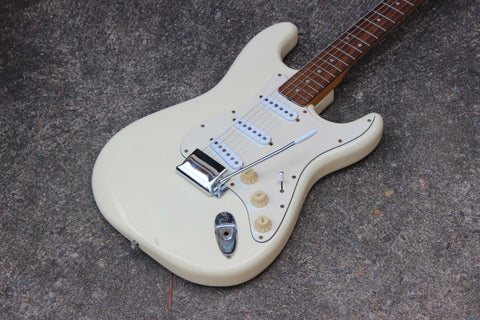 1978 Greco SE-600 Sparkle Sounds Stratocaster Electric Guitar Japan MIJ (White)