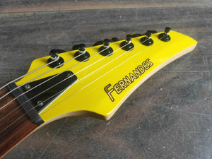 1990's Fernandes FGZ-400 HSS Superstrat (Canary Yellow)