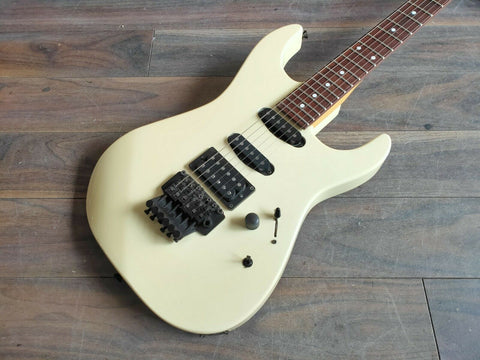 1980's Kramer Japan LK-1RBF HSS Dinky Style Electric Guitar (White)
