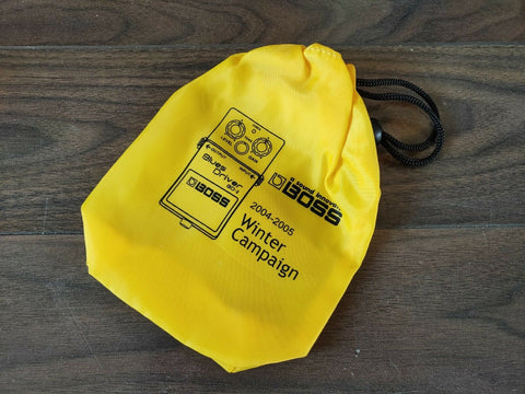 2004-2005 Boss BD-2 Blues Driver Promotional Winter Campaign Effects Bag Yellow
