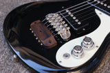 1995 Mosrite Mini MIJ Rare Electric Travel Short Scale Guitar (Black)