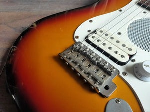 1993 Fender Japan ST-CHAMP Travel Stratocaster MIJ (Sunburst)