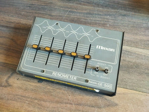 1970's Maxon Renometer GE-500 Graphic Equalizer MIJ Japan Vintage Effects Pedal