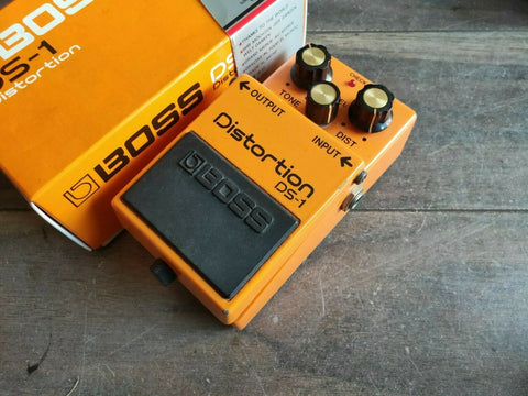 1985 Boss DS-1 Distortion MIJ Vintage Effects Pedal w/Box