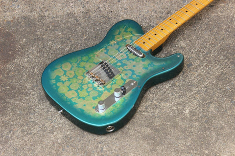 1985 Fender Japan TL69-75 Blue Flower Telecaster Vintage MIJ Electric Guitar
