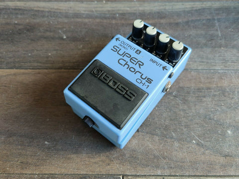 1991 Boss CH-1 Analog Chorus Vintage Effects Pedal