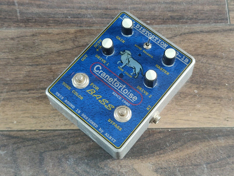 Cranetortoise DD-1B Dual Bass Distortion Guitar Pedal (made in Japan)