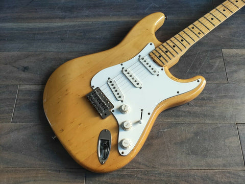1976 Westminster Japan Stratocaster Matsumoku Electric Guitar (Natural)