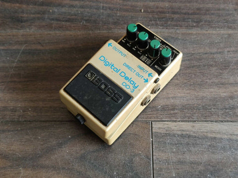 1987 Boss DD-3 Digital Delay Long Chip Vintage MIJ Japan Effects Pedal