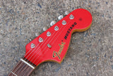 2007 Fender Japan MG69 Mustang (Fiesta Red) MIJ w/Matching Headstock