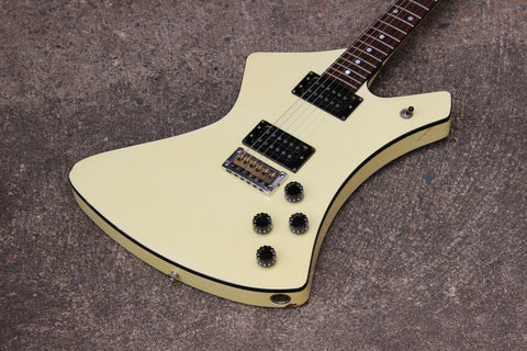 1982 Washburn A-10 Stage Series Explorer Electric Guitar Japan (Ivory)