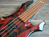 Edwards Japan (by ESP) F Series Electric Bass Guitar (Red Snakeskin)