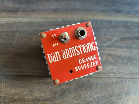 1980's Dan Armstrong Orange Squeezer Compressor