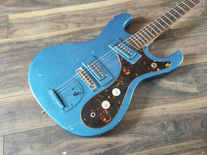 1960's Guyatone Japan LG-127T Offset Vintage Electric Guitar (Electric Blue)