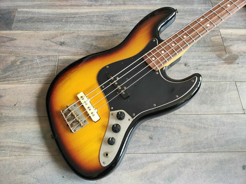 1980 Fernandes Japan FJB-65 MIJ Jazz Bass (Sunburst) w/Case