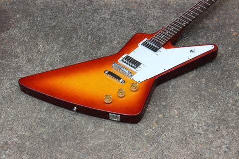 1970's Tomson Japan Explorer Destroyer Electric Guitar MIJ (Sunburst)