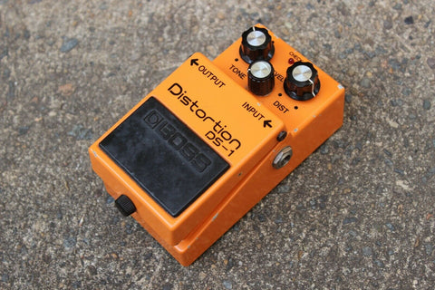 1981 Boss DS-1 Distortion MIJ Long Dash Vintage Effects Pedal