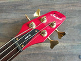 1989 Aria Pro II ASB-65 Integra Series Neckthrough Bass (Trans Red)