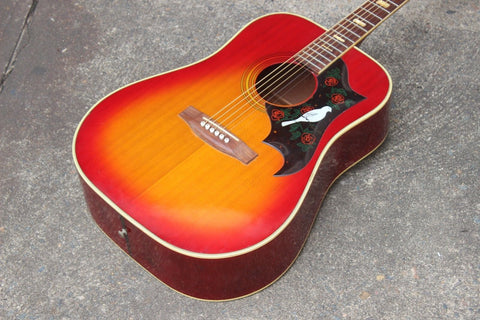 1973 Suzuki FH-250 Vintage Dove Acoustic Guitar - Made in Japan (Sunburst)