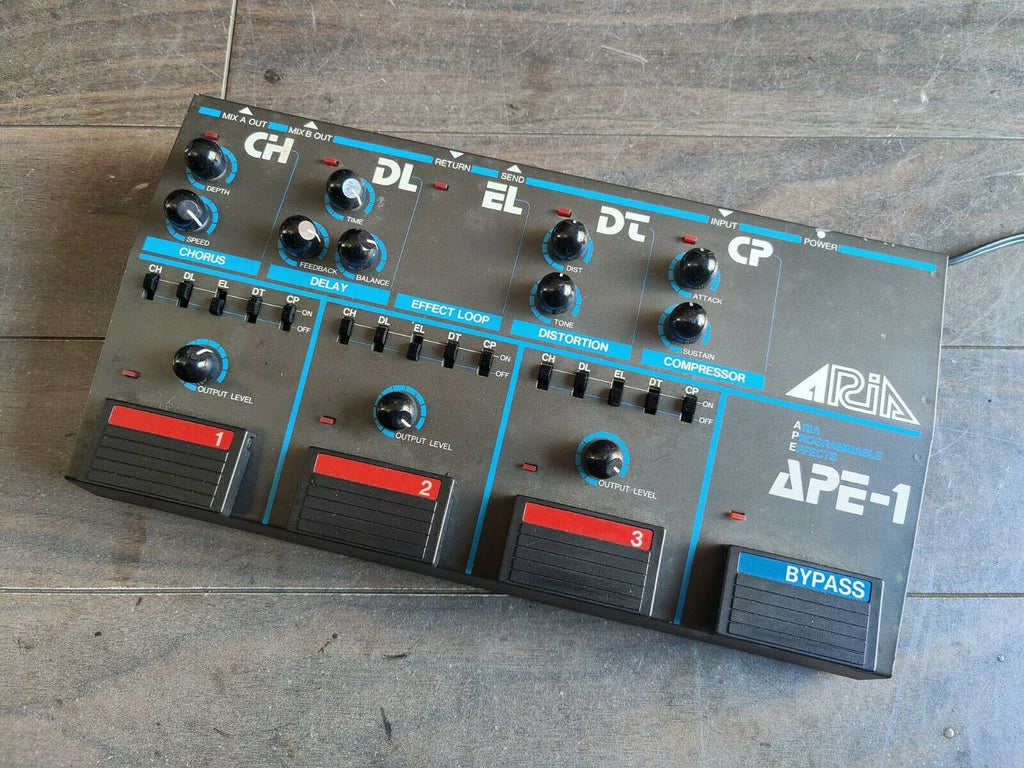 1980's Aria APE-1 Programmable Multi Effects Unit (Made in Japan)