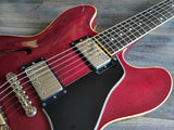 1988 Orville by Gibson ES-CH ES-335 Japan Dot Hollowbody (Cherry Red) w/Hardcase