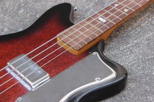 1960's Guyatone EB-4 Short Scale Electric Bass Guitar (Red Sunburst)