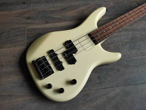 1980's Aria Pro II Argent Series ARB-480M Bass PJ Guitar (White)