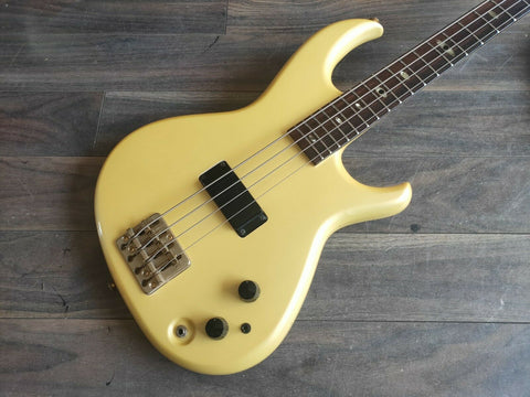 1984 Aria Pro II SB Elite I Electric Bass Metallic White (Made in Japan)