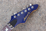 1990's Aria Pro II ZZ Series Explorer Electric Guitar (Blue)