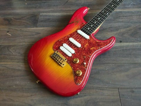1990's Valley Arts M Series Japan HSS Stratocaster (Cherry Sunburst)