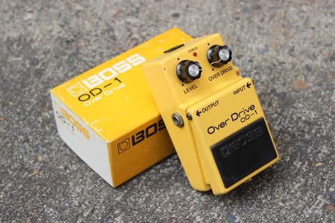 1979 Boss OD-1 Overdrive Vintage Effects Pedal w/Box
