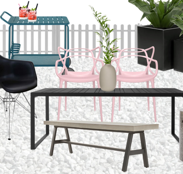 How to Visualise a Renovation - Outdoor Dining & Office Space