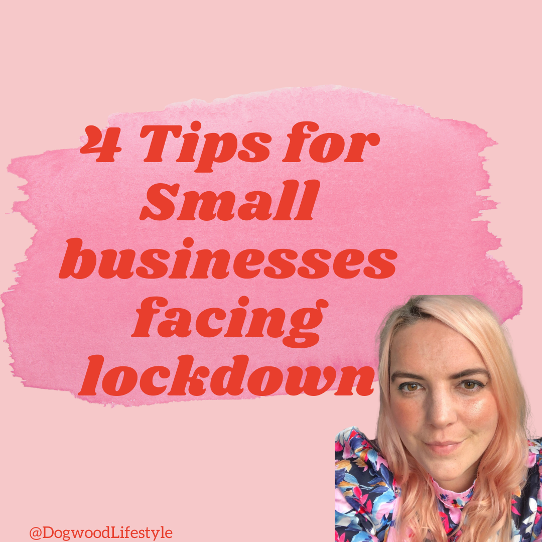 4 tips for small businesses facing lockdown text and photo of the author