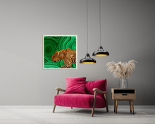 Load image into Gallery viewer, NEW 'Green Leopard' Dogwood Lifestyle Original Art Print
