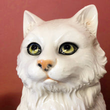 Load image into Gallery viewer, 'Purdey' Medium Sitting Persian Cat Italian Ceramic Statue