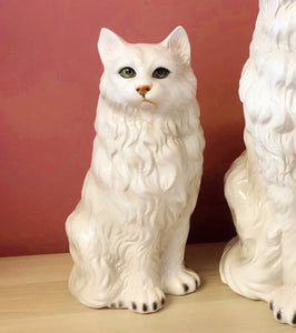 'Mimi' Small Sitting Persian Cat Italian Ceramic Statue