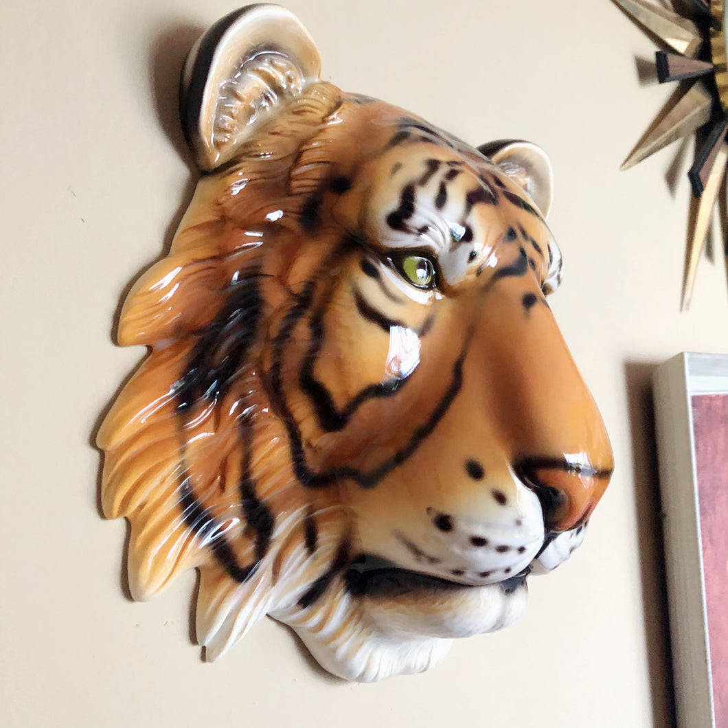 NEW 'Bruce' Ceramic Tiger Leopard Wall Hanging