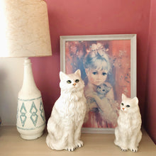 Load image into Gallery viewer, 'Mimi' Small Sitting Persian Cat Italian Ceramic Statue