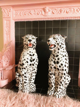 Load image into Gallery viewer, PREORDER 'Snowy' Large Ceramic Snow Leopard Statue Vintage