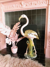 Load image into Gallery viewer, PREORDER 'Estelle' Large Ceramic Pink & Gold Flamingo Statue