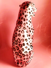 Load image into Gallery viewer, PRE ORDER 'Frenchie' EXCLUSIVE PINK Large Ceramic Leopard Statue Vintage